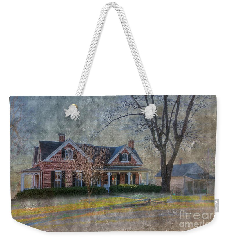 Explore Weekender Tote Bag featuring the photograph Miller-seabaugh House by Larry Braun