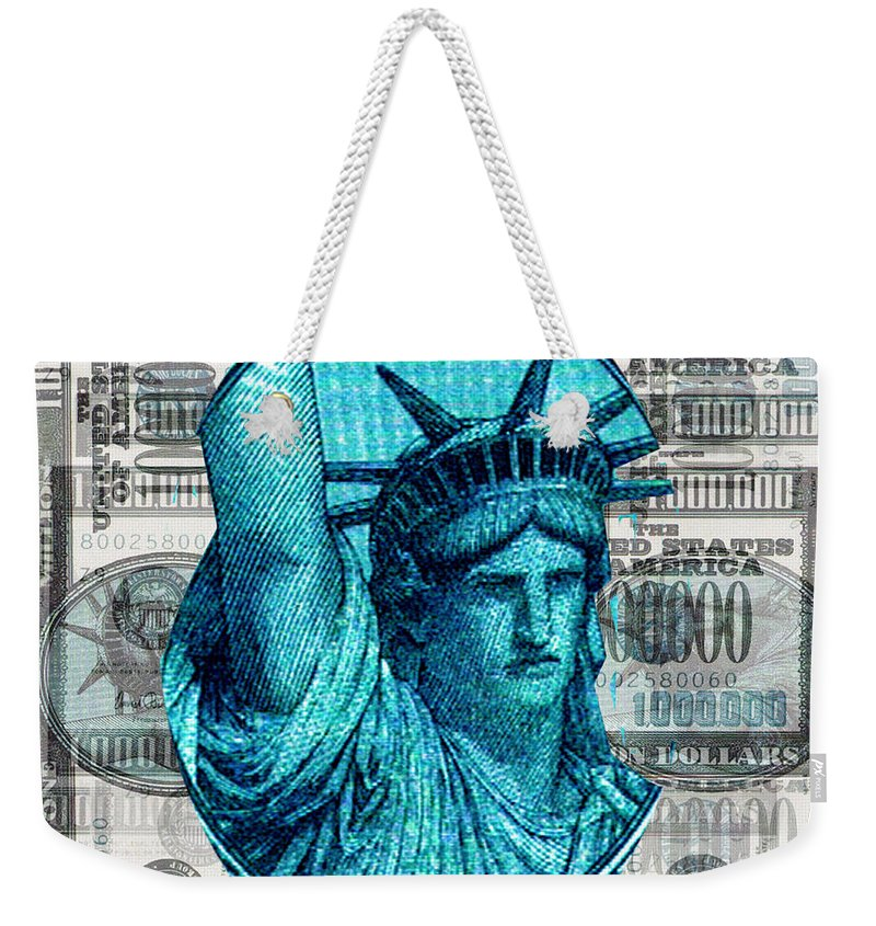 Millions Weekender Tote Bag featuring the digital art Million Dollar Pile by Seth Weaver