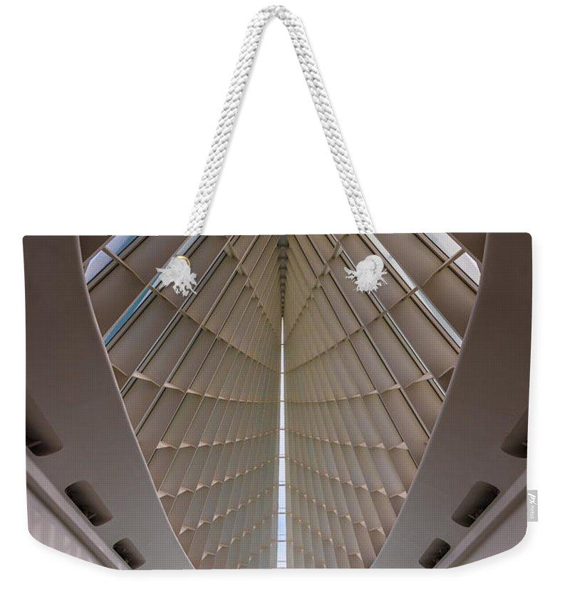 Milwaukee Weekender Tote Bag featuring the photograph Milwaukee Art Museum Hall by Steve Gadomski