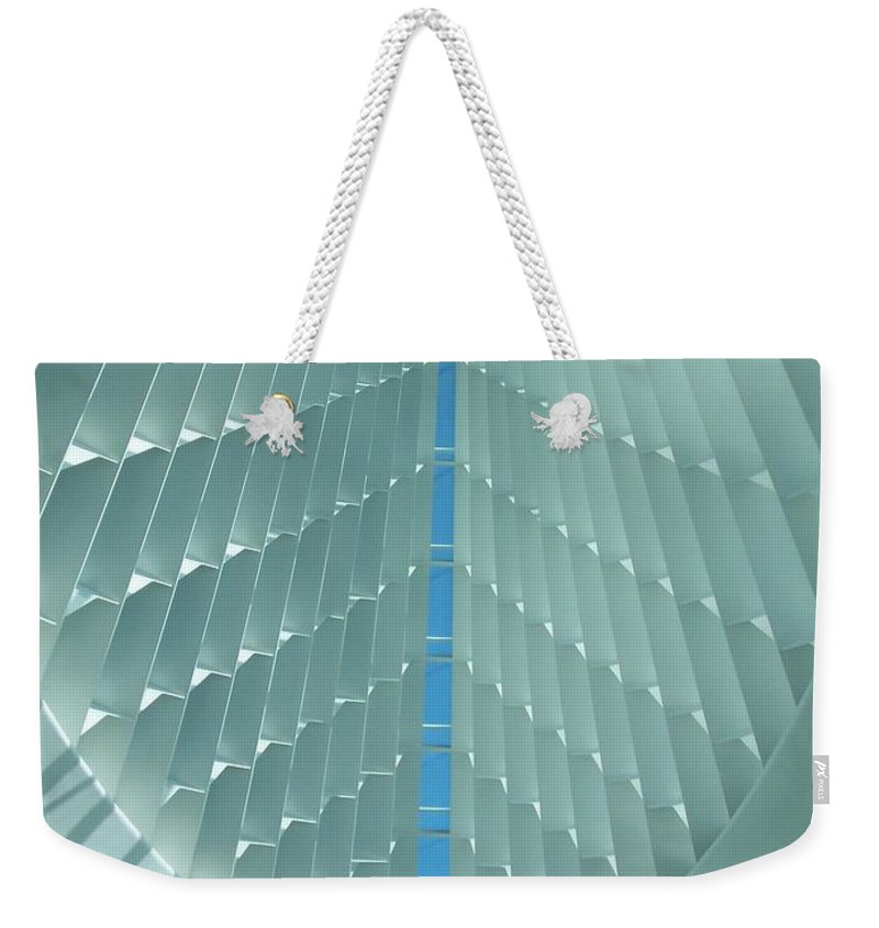 Mam Weekender Tote Bag featuring the photograph Milwaukee Art Museum Interior by Anita Burgermeister