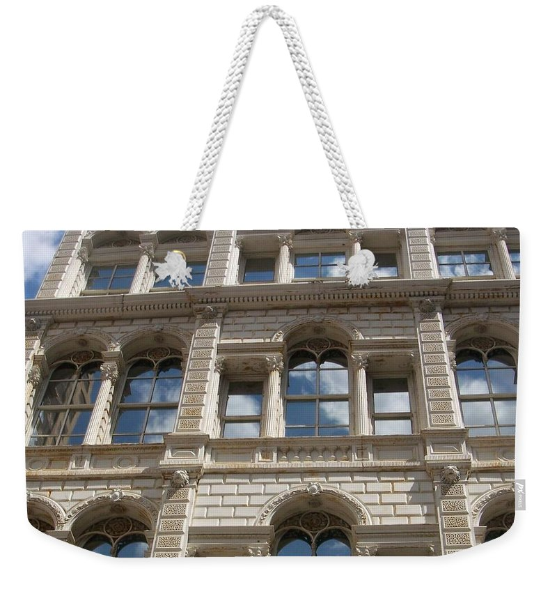 Milwaukee Weekender Tote Bag featuring the photograph Milwaukee Cloud Reflections by Anita Burgermeister