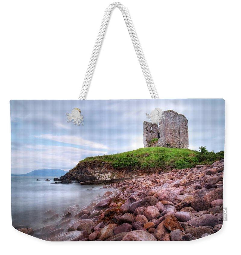 Minard Castle Weekender Tote Bag featuring the photograph Minard Castle - Ireland by Joana Kruse