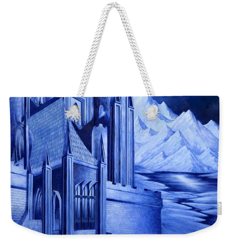 Lord Of The Rings Weekender Tote Bag featuring the mixed media Minas Tirith by Curtiss Shaffer