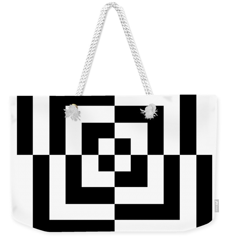 T-shirt Weekender Tote Bag featuring the digital art Mind Games 10se by Mike McGlothlen