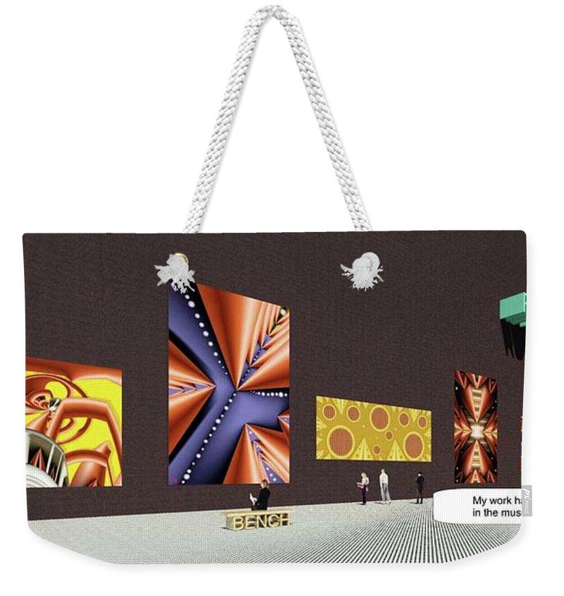 Gallery Weekender Tote Bag featuring the digital art Mind Museum by Ron Bissett