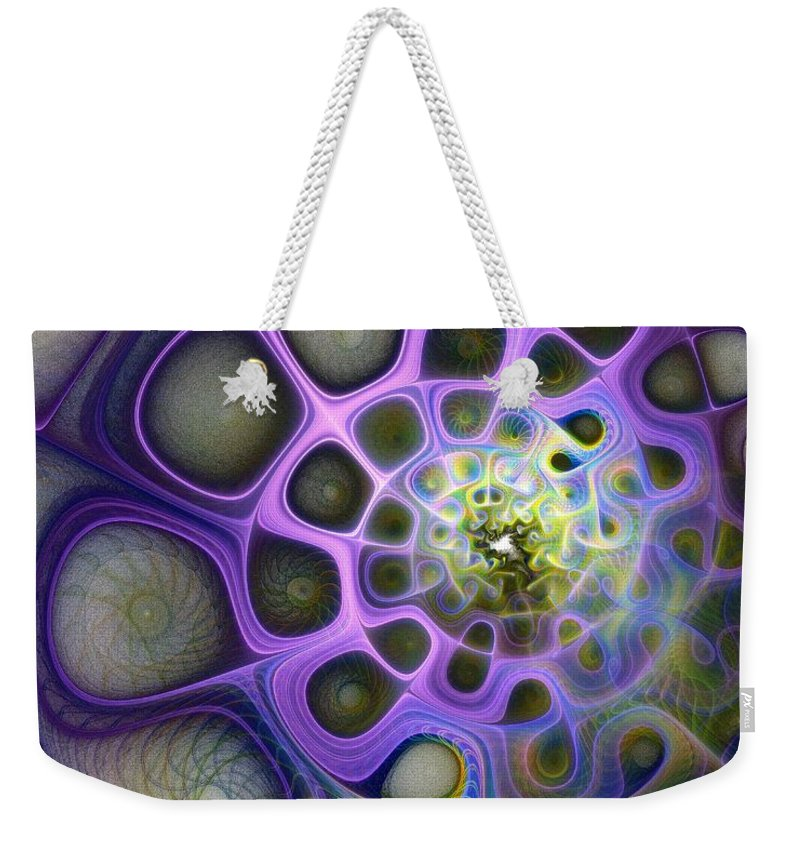 Digital Art Weekender Tote Bag featuring the digital art Mindscapes by Amanda Moore