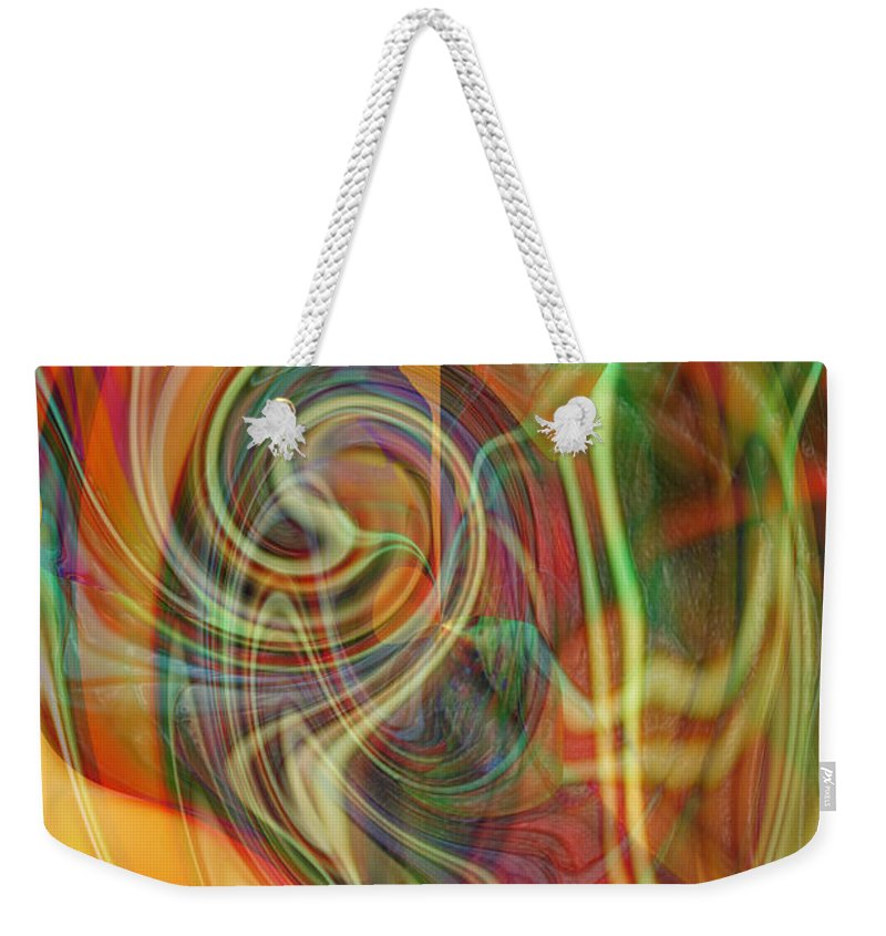 Abstract Art Weekender Tote Bag featuring the digital art Mindtrip by Linda Sannuti