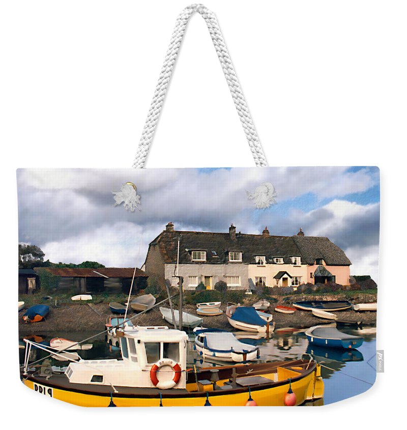 Harbor Weekender Tote Bag featuring the photograph Minehead Sommerset by Kurt Van Wagner