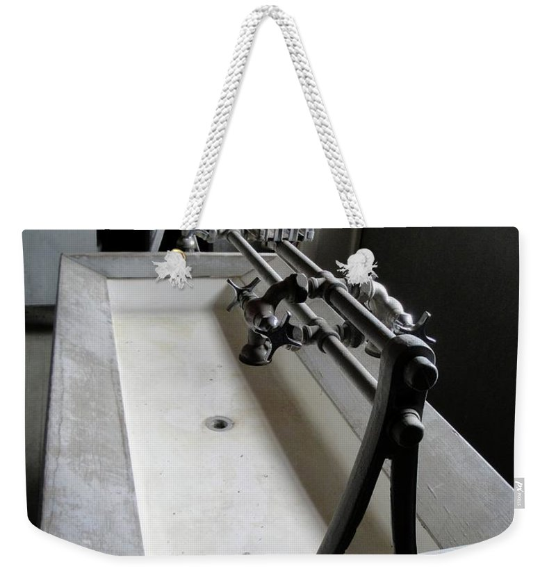 Trough Sink Weekender Tote Bag featuring the photograph Miner Communal Sink by Ron Bissett
