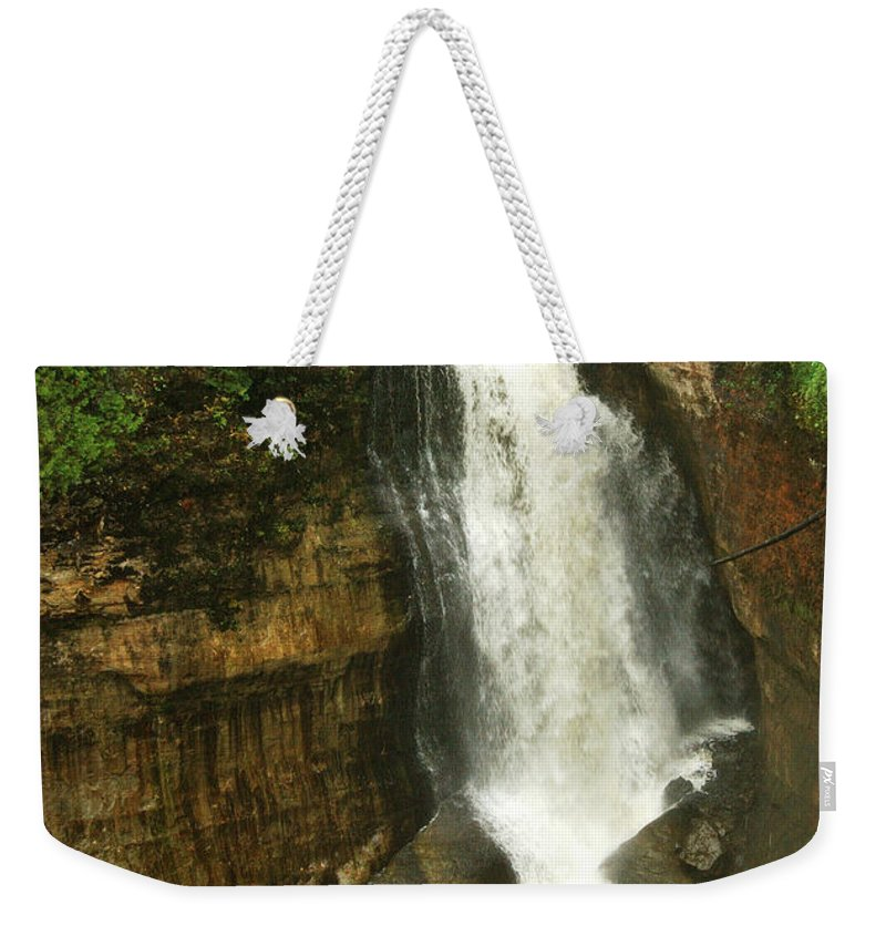 Miners Falls Weekender Tote Bag featuring the photograph Miners Falls by Michael Peychich