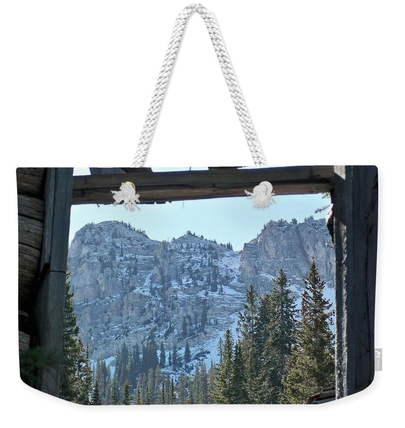 Mountain Weekender Tote Bag featuring the photograph Miners Lost View by Michael Cuozzo