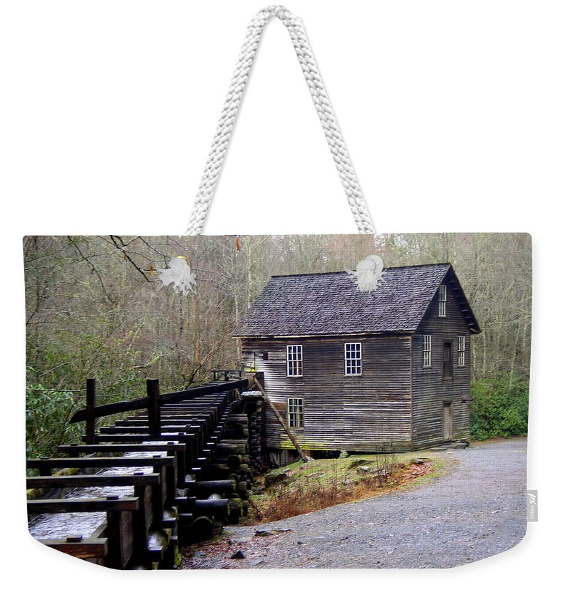 Great Smokey Mountain National Park Weekender Tote Bag featuring the photograph Mingus Mill by Marty Koch