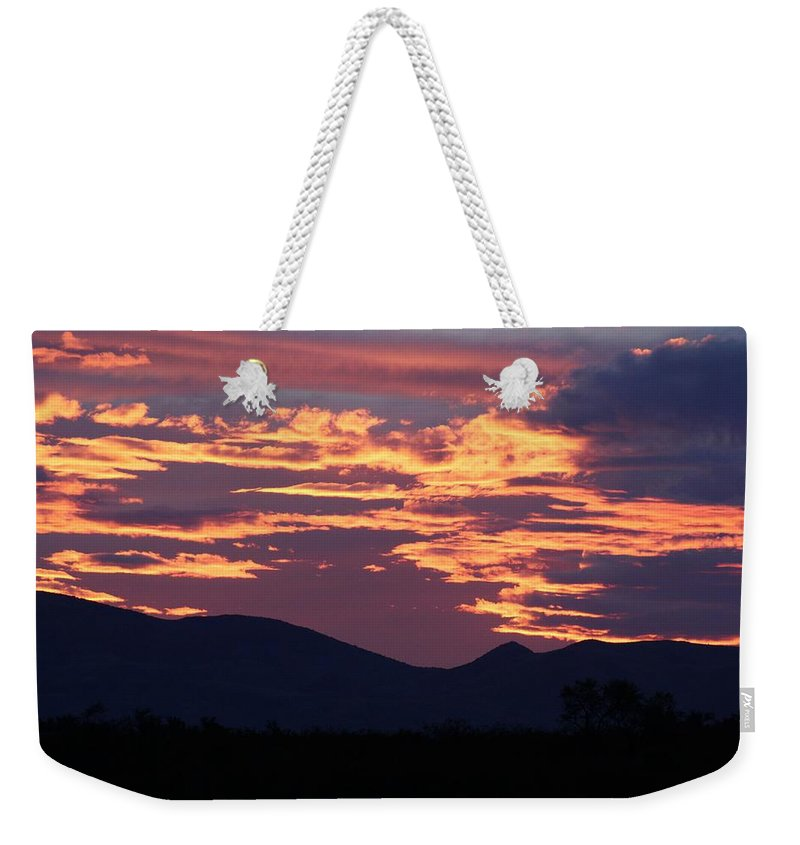Landscape Weekender Tote Bag featuring the photograph Mingus Sunset 052814a by Edward Dobosh