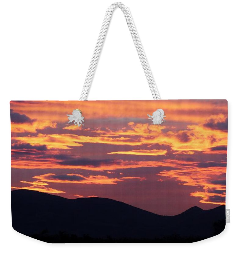 Landscape Weekender Tote Bag featuring the photograph Mingus Sunset 052814aa by Edward Dobosh