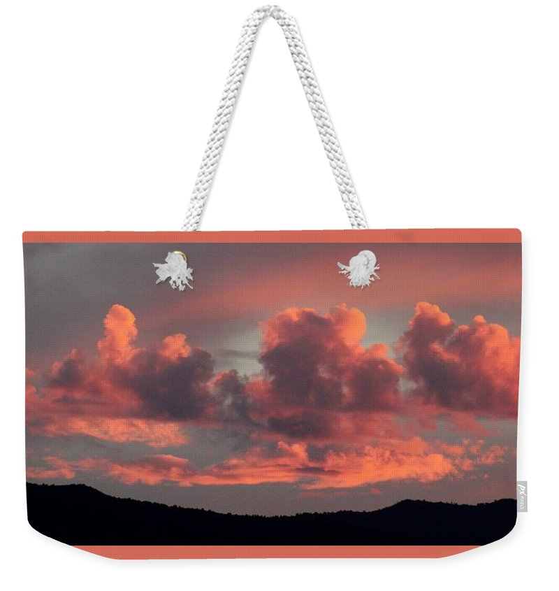 Landscape Weekender Tote Bag featuring the photograph Mingus Sunset 052814bb by Edward Dobosh