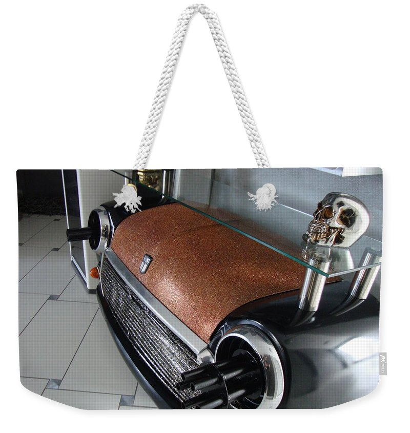 Table Weekender Tote Bag featuring the sculpture Mini 007 by Rudy Gauthier