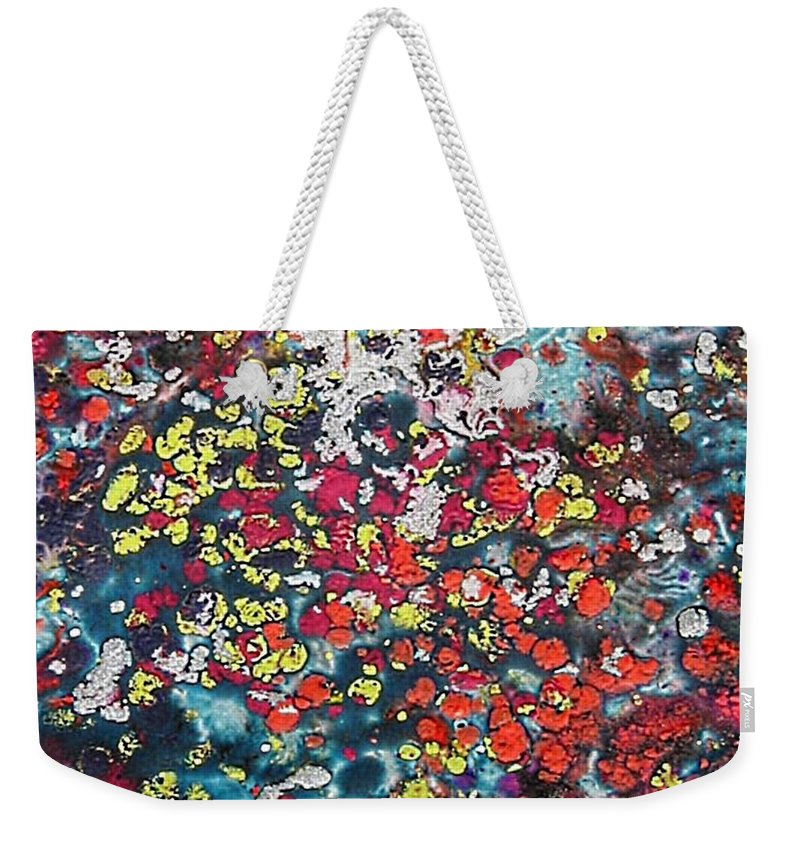Mini Roses Weekender Tote Bag featuring the painting Mini Roses by Dragica Micki Fortuna