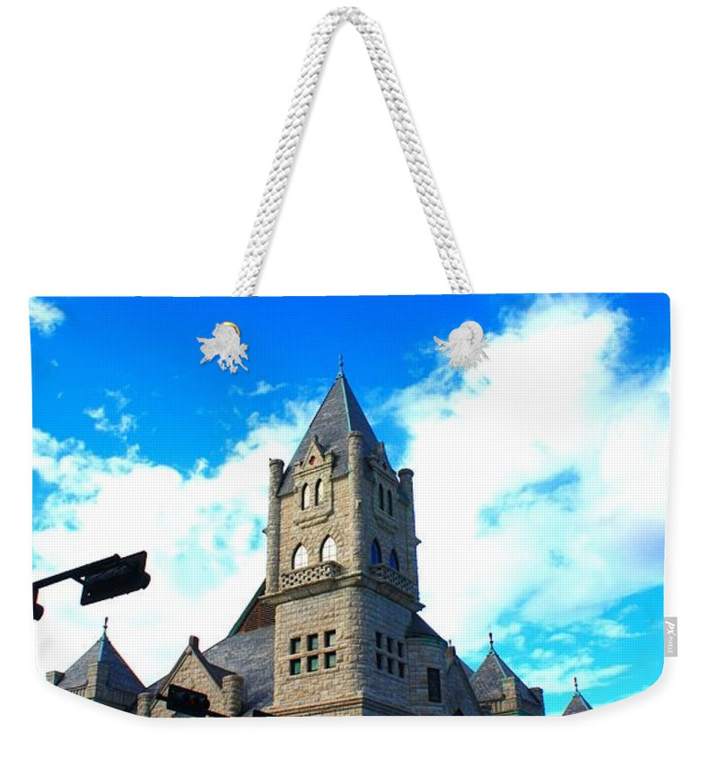 Castle Weekender Tote Bag featuring the photograph Miniature Castle by John W Smith III