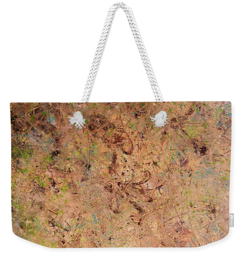 Minimal Weekender Tote Bag featuring the painting Minimal 7 by James W Johnson