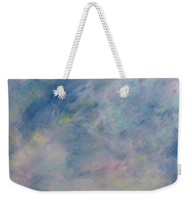 Minimal Weekender Tote Bag featuring the painting Minimal 9 by James W Johnson