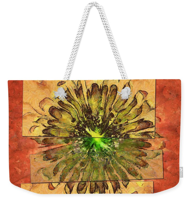 Abstract Weekender Tote Bag featuring the painting Minimaxes Fabric Flower Id 16164-054727-17021 by S Lurk