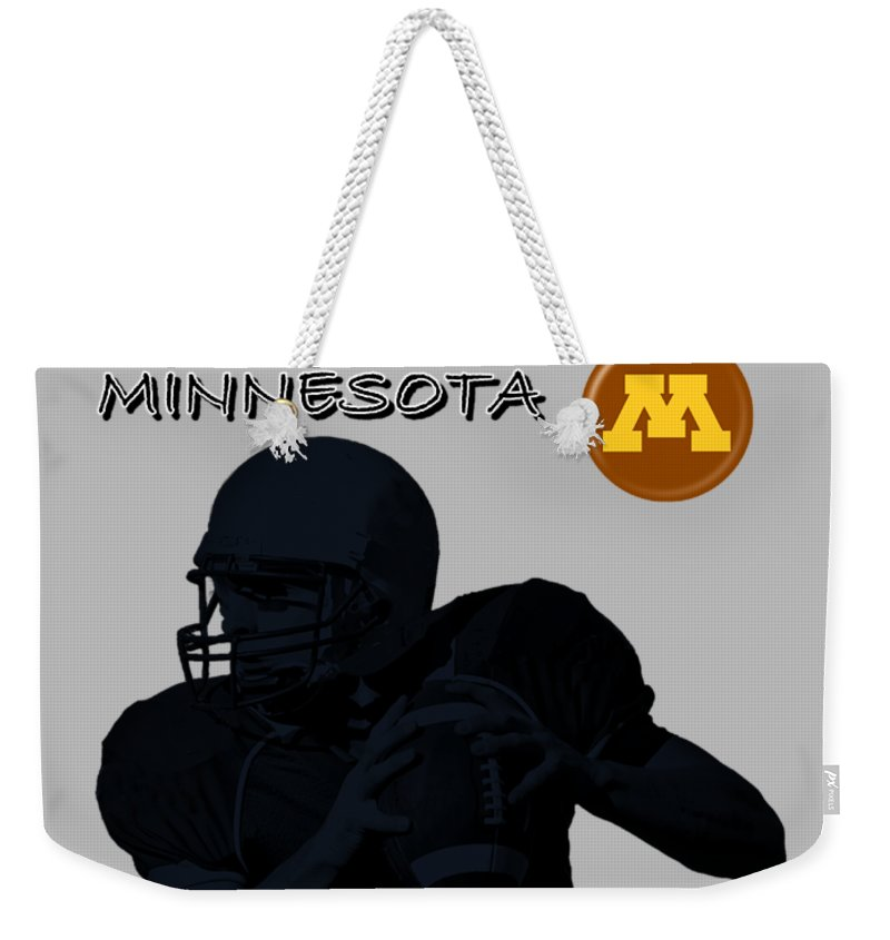 Football Weekender Tote Bag featuring the digital art Minnesota Football by David Dehner