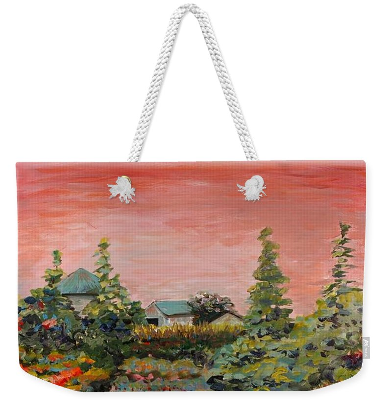 Minnesota Weekender Tote Bag featuring the painting Minnesota Memories by Nadine Rippelmeyer