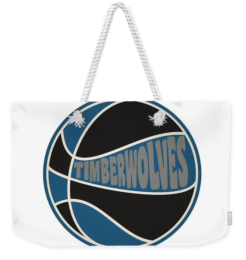 Timberwolves Weekender Tote Bag featuring the photograph Minnesota Timberwolves Retro Shirt by Joe Hamilton