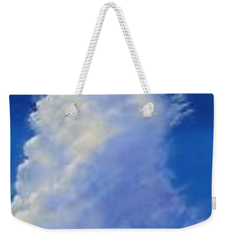 Clouds Weekender Tote Bag featuring the painting Minor Earth Major Sky by Hunter Jay