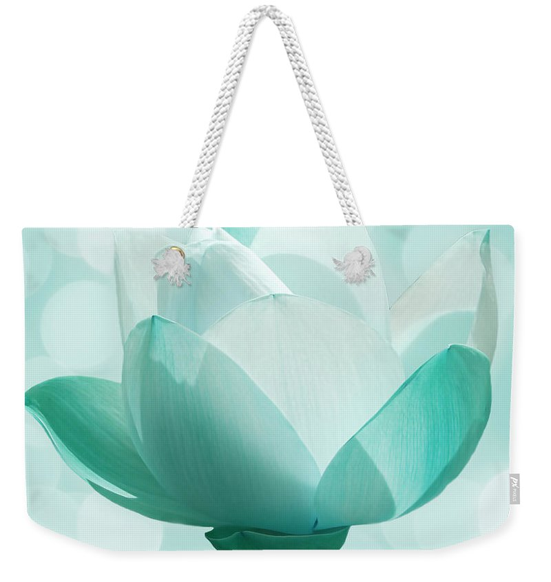 Lotus Weekender Tote Bag featuring the photograph Mint by Jacky Gerritsen