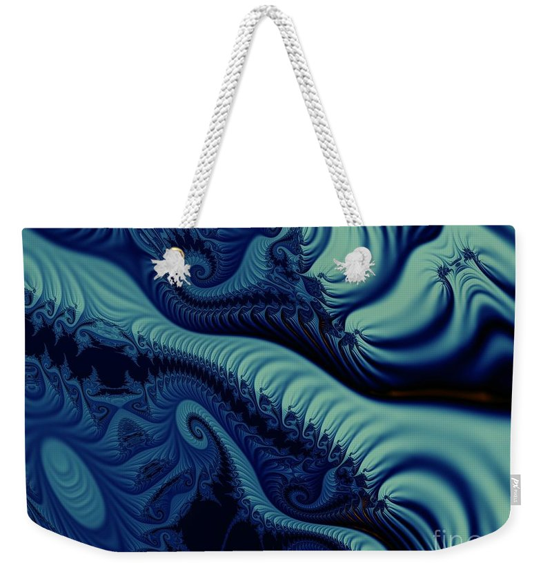Fractal Image Weekender Tote Bag featuring the digital art Mint by Ron Bissett