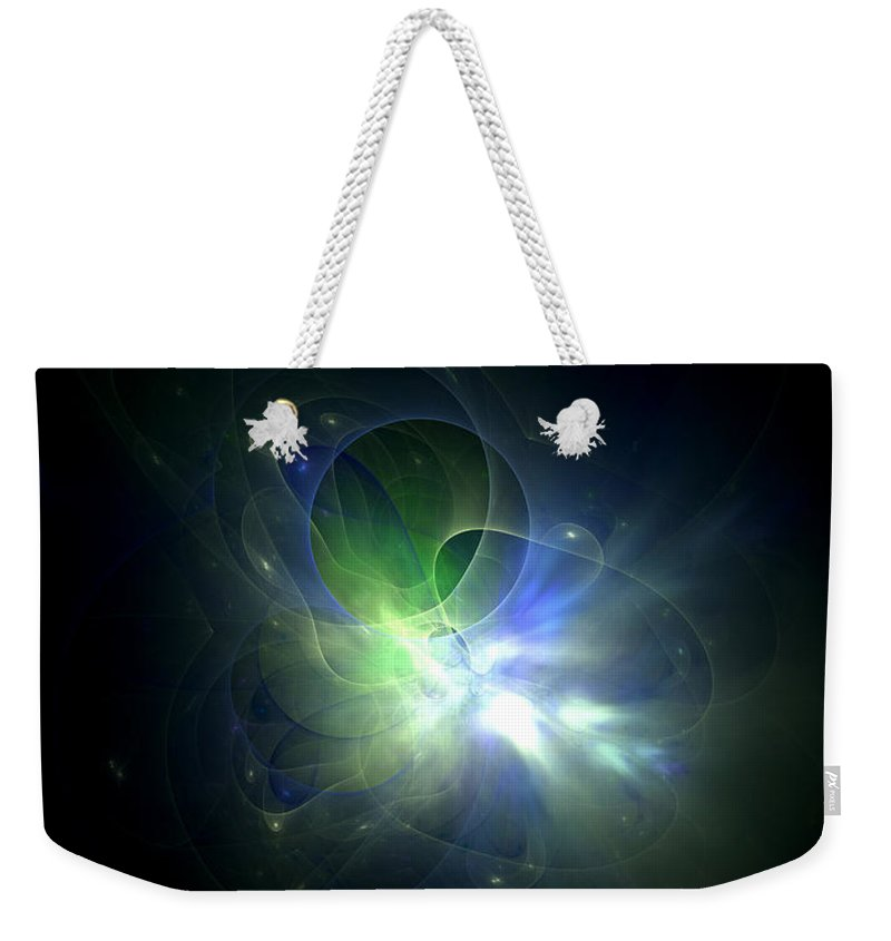 Landscape Size Weekender Tote Bag featuring the digital art Minty by John Pirillo
