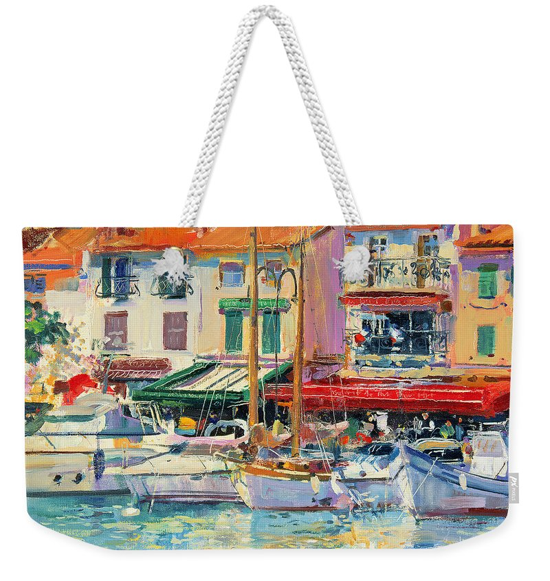 Pier Weekender Tote Bag featuring the painting Mirabeau by Peter Graham