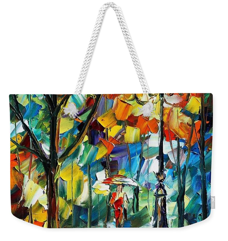 Afremov Weekender Tote Bag featuring the painting Miracle by Leonid Afremov