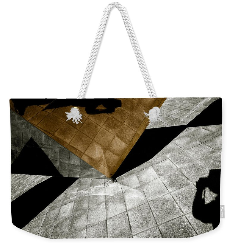 Sculpture Weekender Tote Bag featuring the photograph Mirror Act by Wayne Sherriff