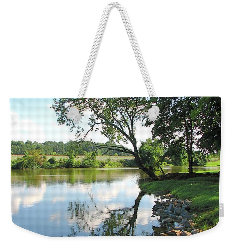 Landscape Weekender Tote Bag featuring the photograph Mirror Image by Todd Blanchard