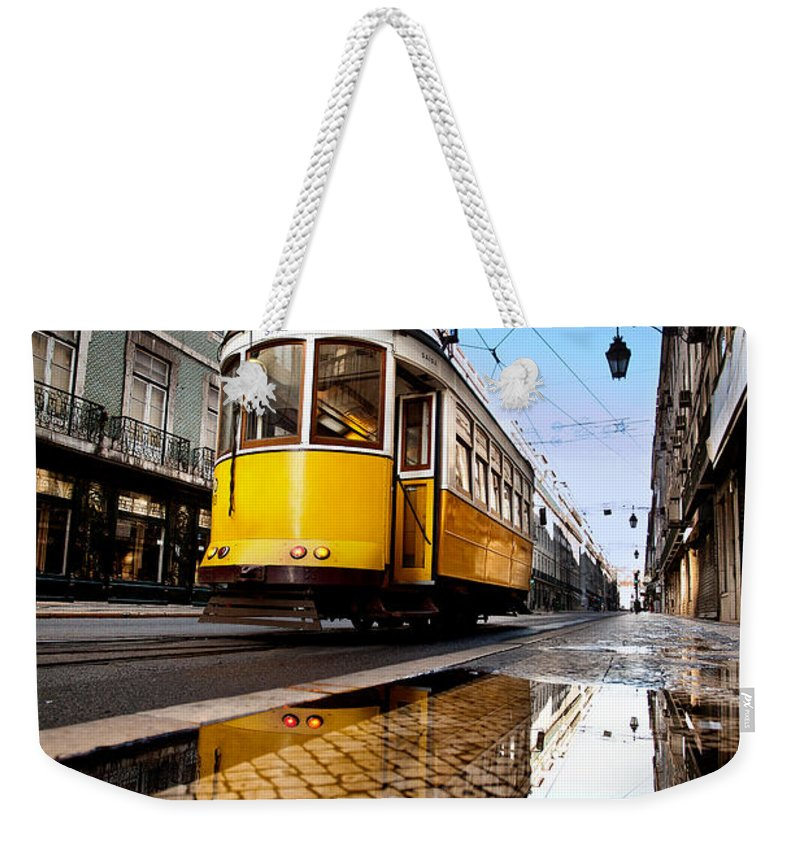 Lisbon Weekender Tote Bag featuring the photograph Mirror by Jorge Maia
