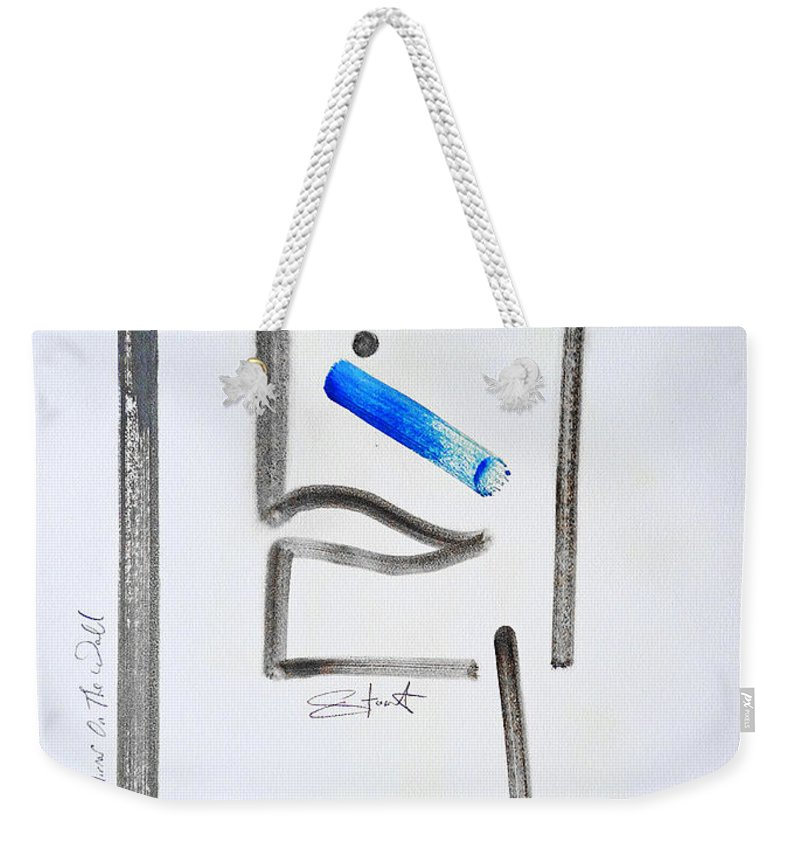 Drawing Weekender Tote Bag featuring the painting Mirror Mirror On The Wall by Charles Stuart