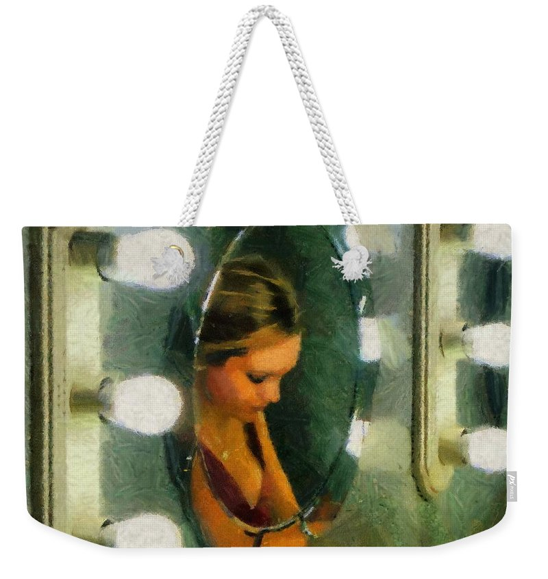 Bridesmaid Weekender Tote Bag featuring the painting Mirror Mirror On The Wall by Jeffrey Kolker