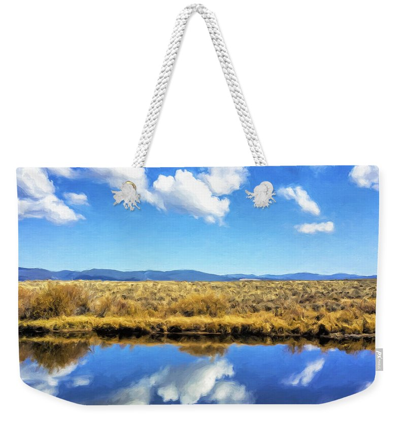 Water Weekender Tote Bag featuring the painting Mirror Moment by Dominic Piperata