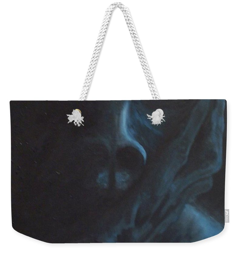 Sad Weekender Tote Bag featuring the painting Misery by Gale Cochran-Smith