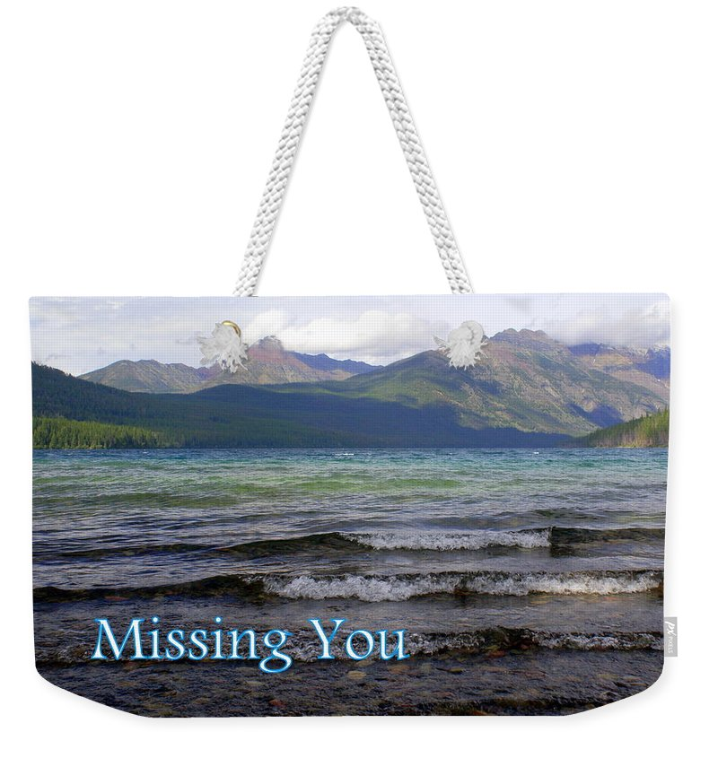 Greeting Card Weekender Tote Bag featuring the greeting card Missing You 1 by Marty Koch