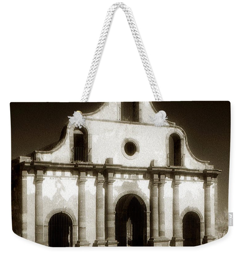 Mission Weekender Tote Bag featuring the photograph Mission Abandoned by Marilyn Hunt