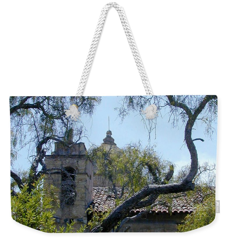 Mission Weekender Tote Bag featuring the photograph Mission At Carmell by Douglas Barnett