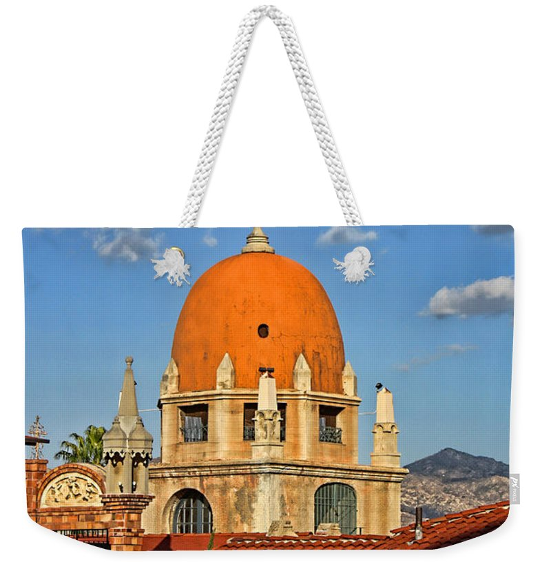 Mission Inn Weekender Tote Bag featuring the photograph Mission Inn Dome by Tommy Anderson
