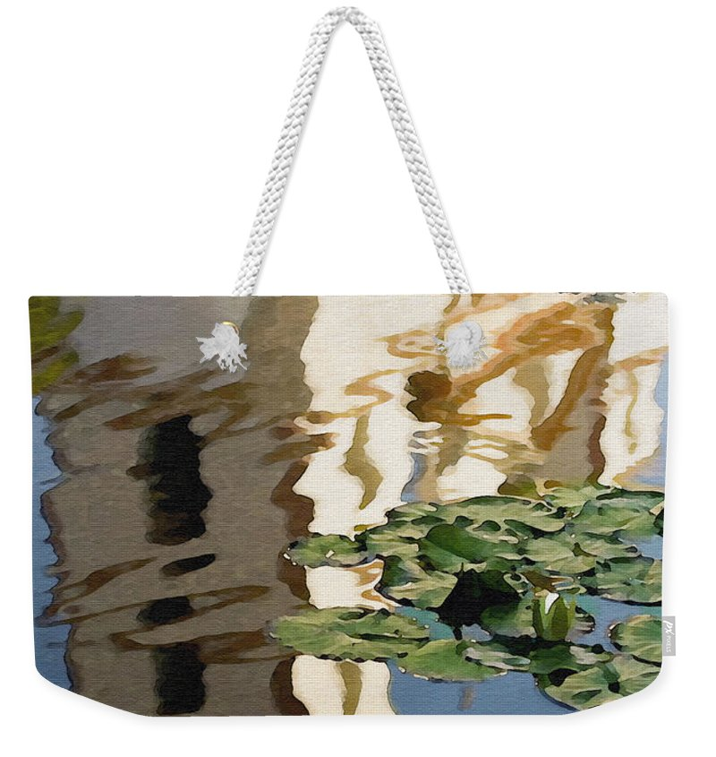 Reflection Weekender Tote Bag featuring the digital art Mission Reflection by Sharon Foster
