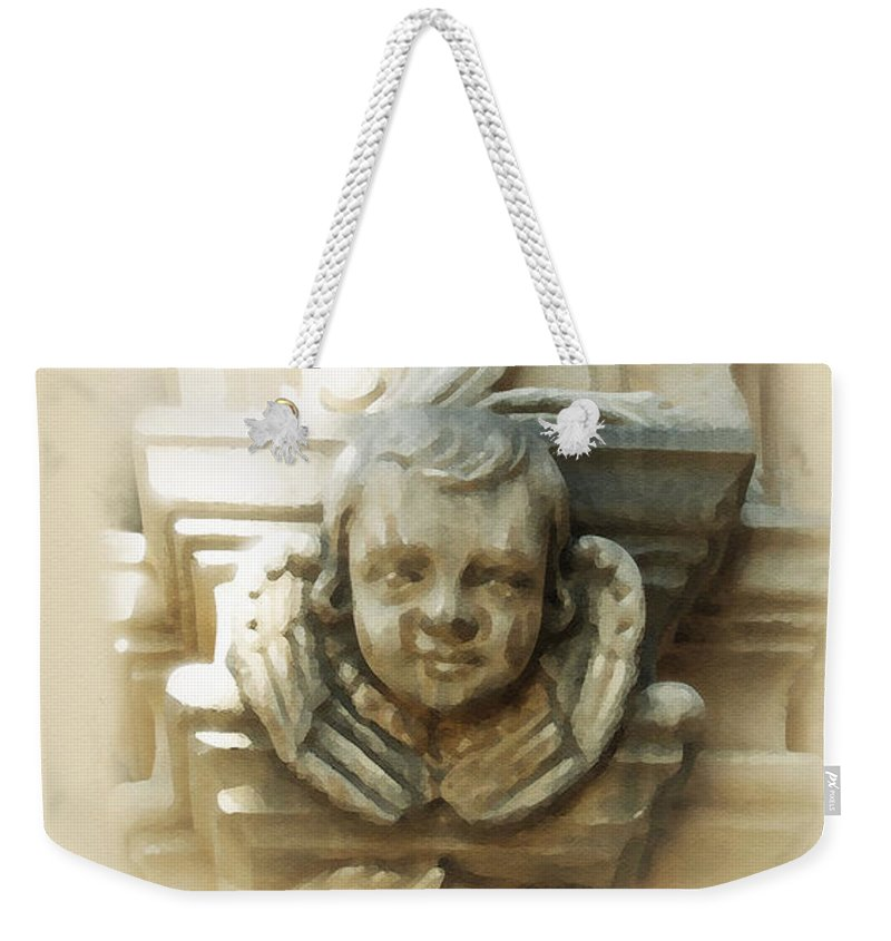 Digital Art Weekender Tote Bag featuring the painting Mission San Jose Angel by Cliff Hawley
