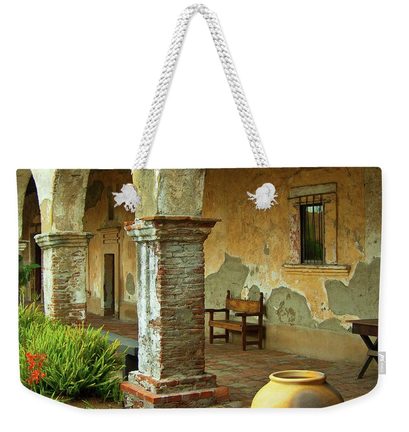 California Missions Weekender Tote Bag featuring the photograph Mission San Juan Capistrano, California by Denise Strahm