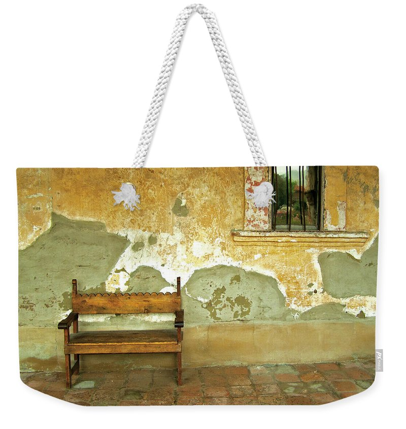 California Missions Weekender Tote Bag featuring the photograph Mission Still Life, Mission San Juan Capistrano, California by Denise Strahm