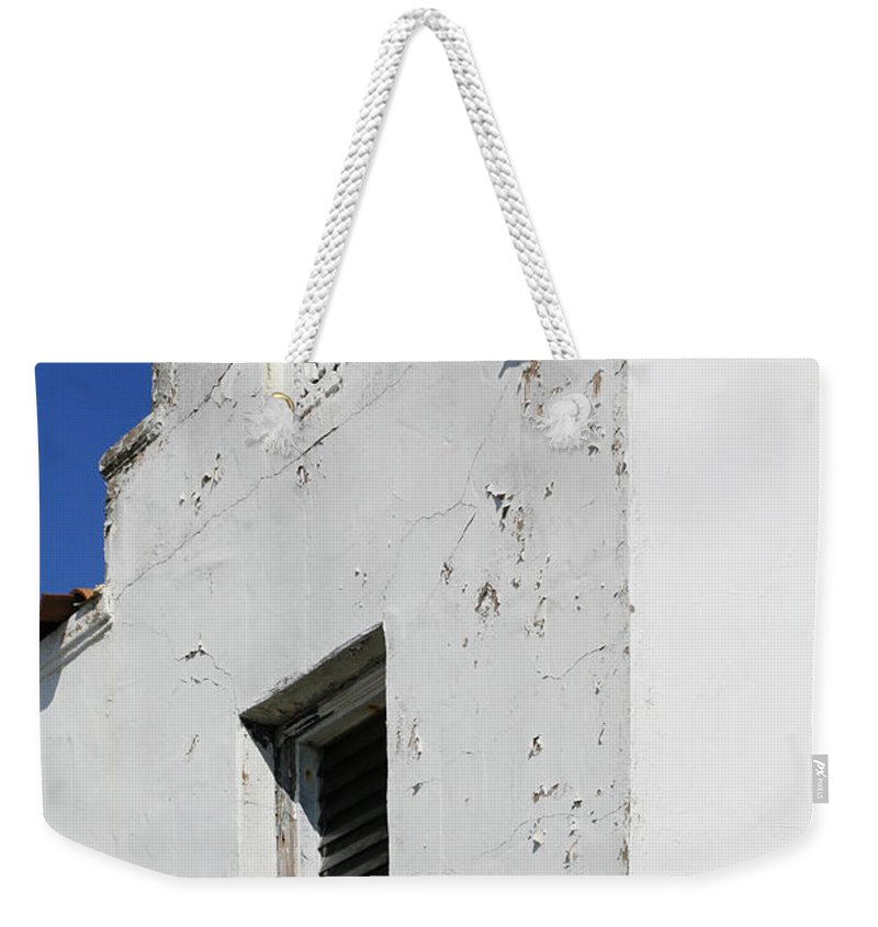 Mission Weekender Tote Bag featuring the photograph Mission Style Architecture by Marilyn Hunt